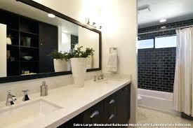 large backlit bathroom mirror lighted tabletop vanity lit makeup