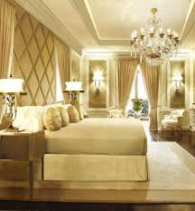 bedroom creative gold cream bedroom decoration using white led