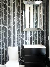 designer bathroom wallpaper ideas modern black and white bathroom wallpaper staggering design