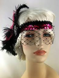 gatsby headband great gatsby flapper headband 1920s deco headband veil
