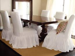 Dining Chair Slipcovers Modern Concept Dining Room Chair Skirts - Covers for dining room chairs