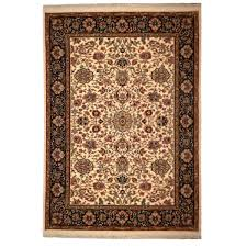 Karastan Area Rugs Karastan Traditional Ivory Black Green Wool Rug 4295