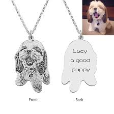 sterling silver personalized necklace images 925 sterling silver personalized pet necklace customize with jpeg