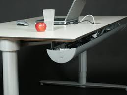 under table cable tray the halfpipe cable tray easy ergonomics