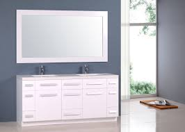 moscony 72 u2033 double sink vanity set in white and matching mirror in