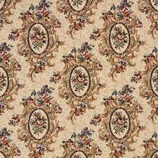 burgundy beige and green floral bouquet tapestry upholstery fabric
