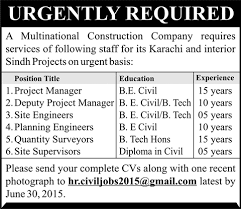 civil engineering jobs in dubai for freshers 2015 movies civil engineering jobs in karachi sindh 2015 june at a