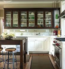 upper cabinets with glass doors glass cabinet in kitchen nomobveto org