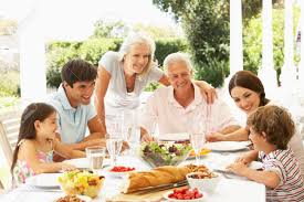 happy family garden meals with family u0027could help spare u0027 dementia patients from