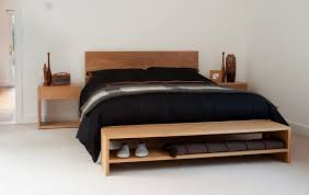 benches for bedrooms a stylish solid wood end of bed bench for extra bedroom storage