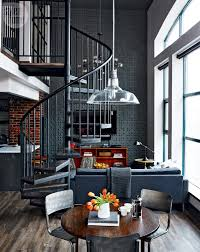 loft tour retro industrial design style at home