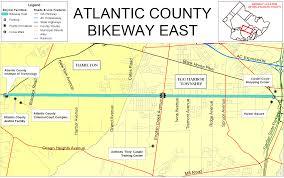 Hamilton Nj Map Atlantic County Bikeway Department Of Public Works Atlantic