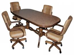Leather Dining Room Furniture Dining Chairs On Casters New Dining Room Chairs With Rollers
