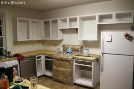 diy kitchen makeover part one refinishing cabinets the d i wife