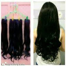 jual hair clip 3 layer 60 cm curly lurus grosir grosir