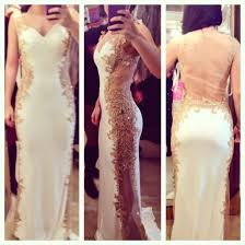 dress white dress lace dress long prom dress whiteandgold