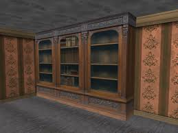 second life marketplace re old wood bookcase set one prim