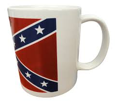 Confederate Flag Rear Window Decal Confederate Flag 12oz White Coffee Mug