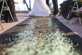 black aisle runner black aisle runner diy petal aisle runner diy glitter
