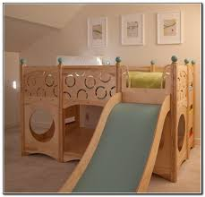 kids loft bed with slide and tent beds home design ideas