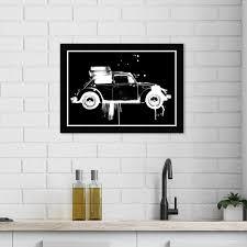 black and white kitchen framed pictures wynwood studio vintage car noir ii transportation wall framed print automobiles black white