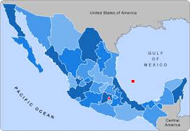 map of mexico with states states of mexico