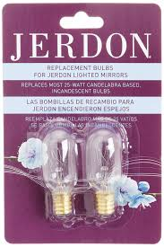Rialto Mirrors Lighted by Amazon Com Jerdon Jpt25w 25 Watt Replacement Light Bulbs For