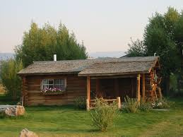 jackson hole anne kent cabins front view of historic small cabin