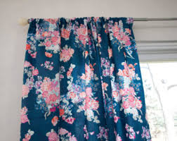 Navy And Pink Curtains Navy Floral Pink Coral Purple Curtain Panels Window Curtains