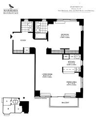 one bedroom floor plans 1 bedroom the marmara manhattan