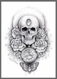 skull and drawing clipartxtras