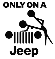 jeep decals only on a jeep decal dec onajeep 5 00 decal doctorz saving you