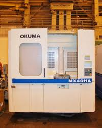 okuma mx 40ha 4 axis cnc horizontal machining center machining