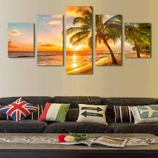 Canvas Painting For Home Decoration by Aliexpress Com Buy Sunrise Coconut Definition Pictures Canvas