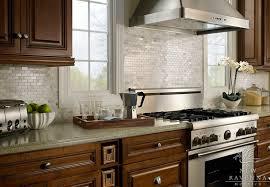 Green Brick Backsplash Tiles Transitional Iridescent Kitchen Backsplash Design Ideas