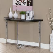 Narrow Wall Table narrow console table with wall art and brown color walls and