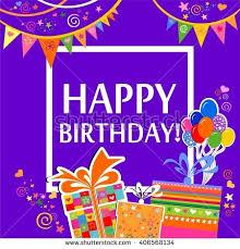 happy birthday greeting card celebration grey stock illustration