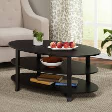 furniture accessories cool oval black painted wood coffee table