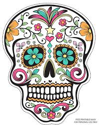 day of the dead masks free printable sugar skull day of the dead mask free free free