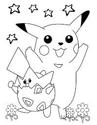 drawing pikachu anime coloring page coloring sky