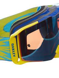 oakley motocross goggles oakley high voltage blue yellow prizm sapphire iridium 2017 front