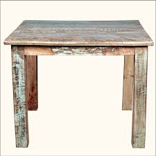 Square Wood Dining Tables Rustic Reclaimed Wood Distressed 40 Square Kitchen Dining Table