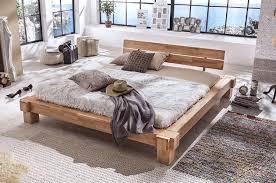 Betten Schlafzimmer Amazon Massivholzbett Palermo Doppelbett Bett Massiv Kernbuche Balkenbett