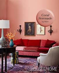 coral serenade by behr is our paint color pick pastels