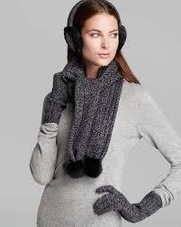 ugg earmuffs sale ugg australia marled cardy wired earmuffs scarf with shearling
