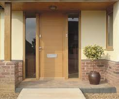 contemporary front doors contemporary timber door with glazed side panels front doors
