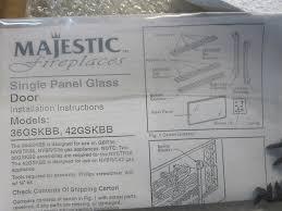 vermont casting majestic fireplace door glass kit 36gskbb 35