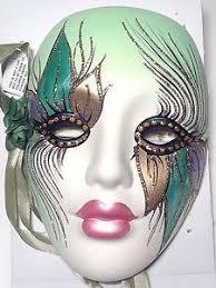 porcelain mardi gras masks mardi gras wall masks ceramic mardi gras ceramic masks venetian