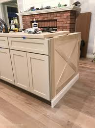 kitchen cabinet baseboards kitchen island trim and lights the house