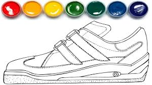 how to draw shoe coloring pages coloring book learn colors